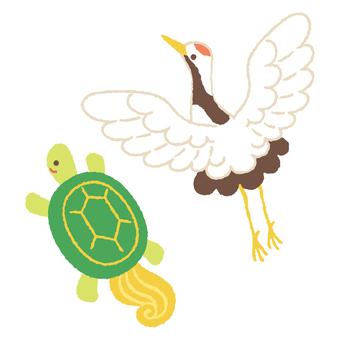 Crane and turtle 2