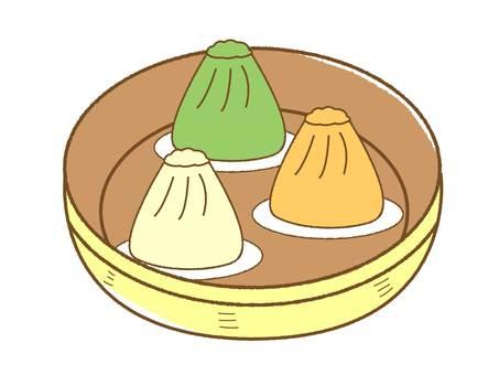 Small basket Chinese food dish basket colorful