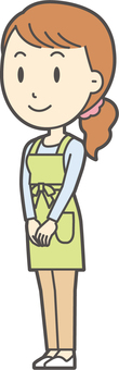 Apron youth long hair-241-whole body