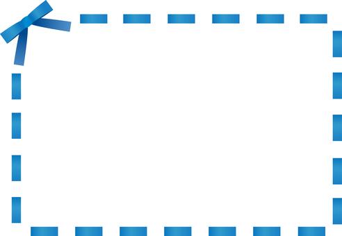 Ribbon stitch frame <Blue>