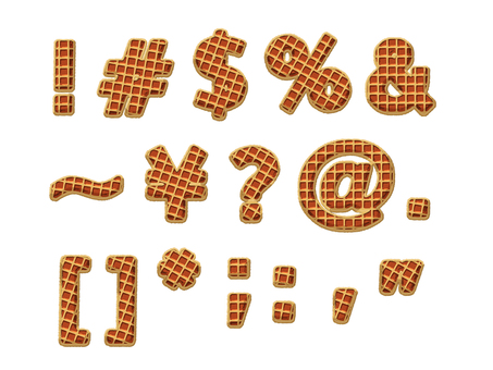 Waffle style letter - Western language - capital letters - 03