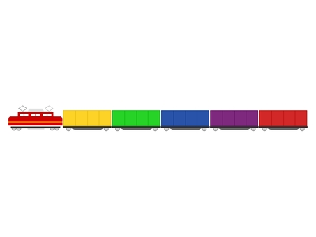 Image of heading of cargo train