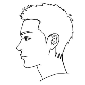 Male profile.