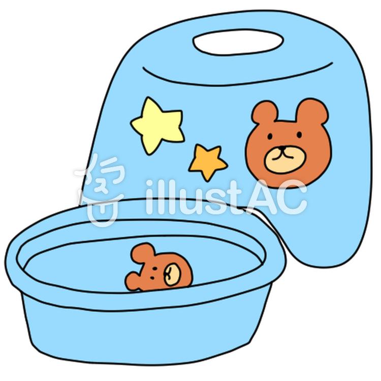 お風呂場の子供用イスとタライ男の子向けイラスト No 824439無料