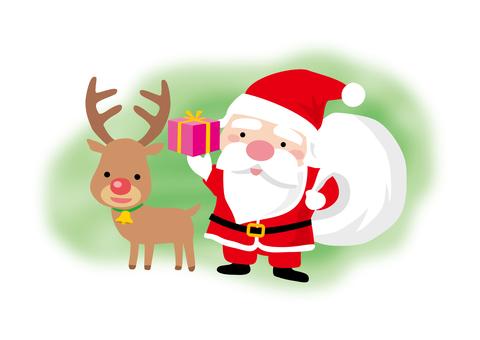 산타와 순록의 크리스마스