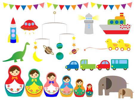 Toys, children's room, set