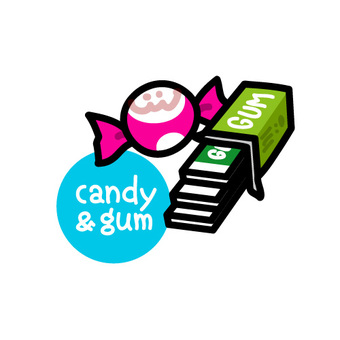 Candy & gum icon illustration
