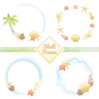 Shell frame set