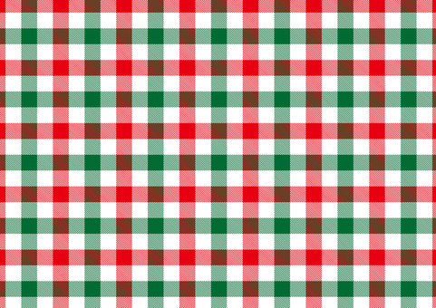 Gingham check <red × green × white>