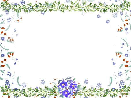 Watercolor floral frame ③