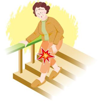 무릎이 아픈 여성