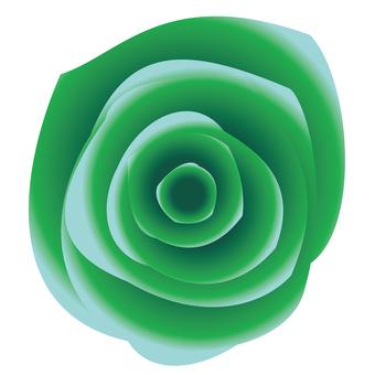 リアルな緑バラアイコン素材