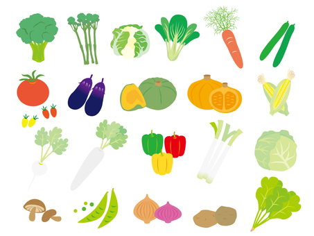 Variety of vegetables set