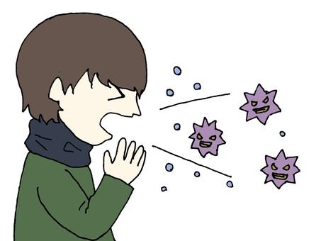 Sneezing and virus