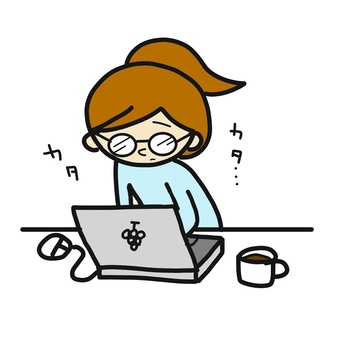 컴퓨터 여성