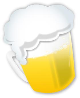 Draft beer mug illustrations