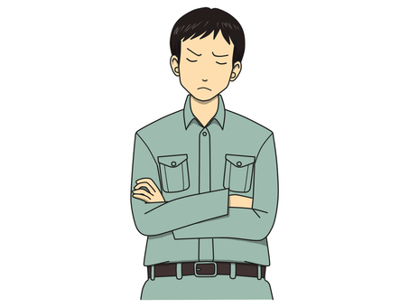 Worried person (working clothes)