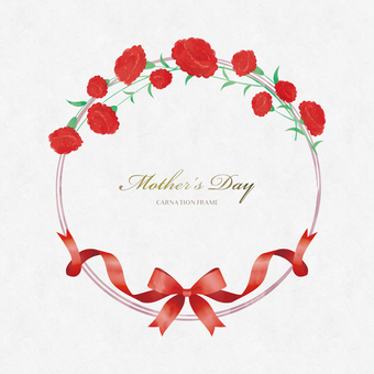 Spring Background Frame 069 Wreath Mother's Day