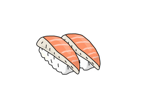 Sushi and salmon