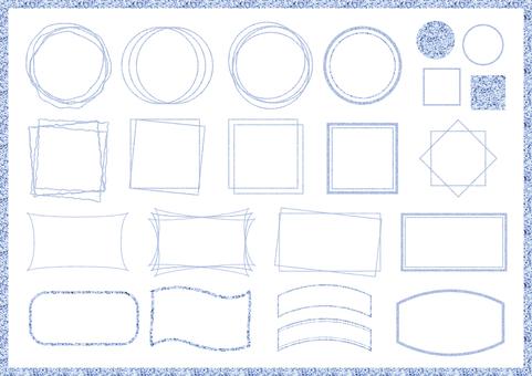Light blue frame set