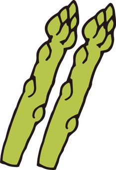 야채 (아스파라거스 · 2 개)