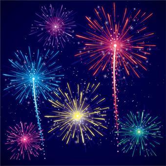 Glittering fireworks