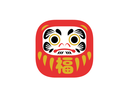 Daruma one point illustration