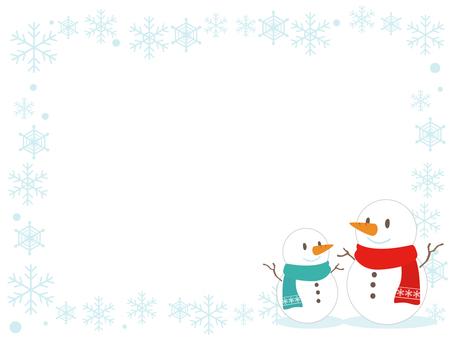 Snowman's decorative frame 2