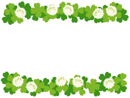 White clover and clover frame