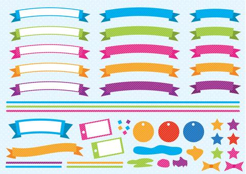 Title _ ribbon band _ dot pattern