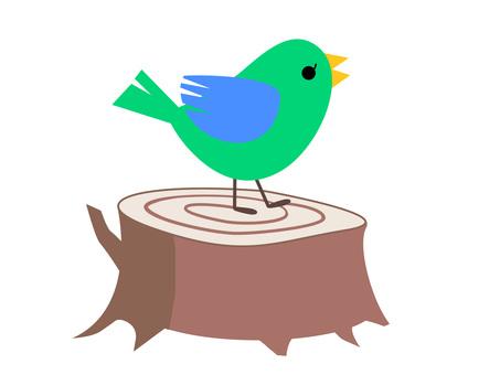 작은 새와 그루터기 3
