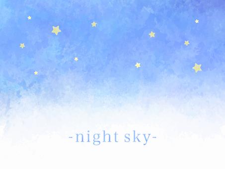 Watercolor style beautiful fantastic starry sky