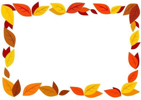 秋色葉っぱフレーム