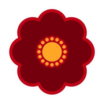 붉은 꽃 10