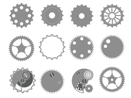 Gear flat type (gray)