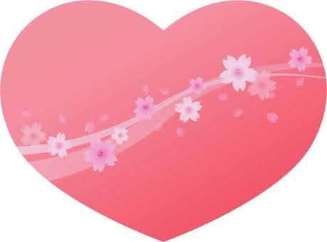 Cherry blossom snowstorm heart