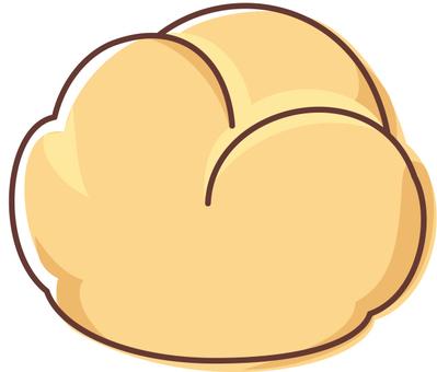 Cream puff 02 - line drawing