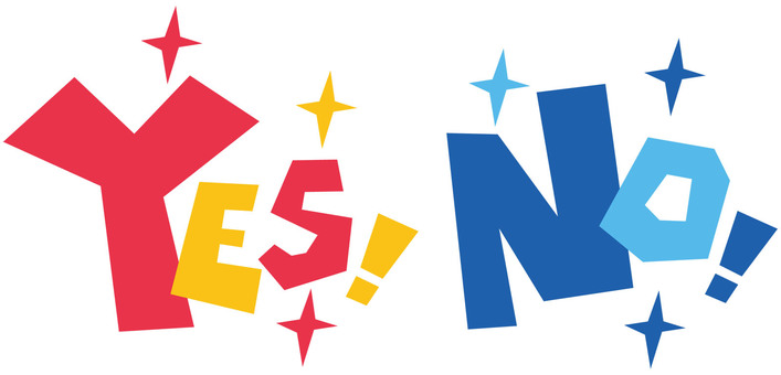 Yes & no ☆ YES NO ☆ Yes No