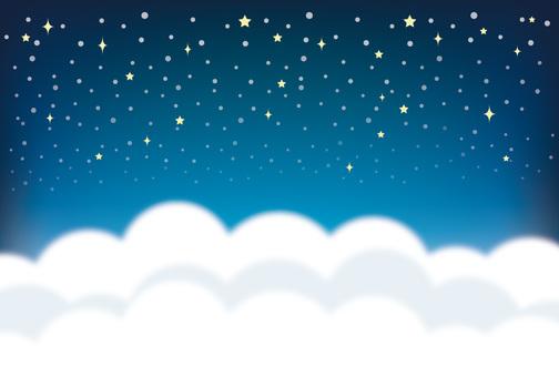 Winter night sky back