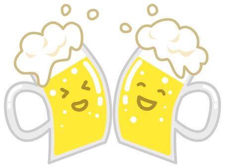 Smiley Cheers beer mug