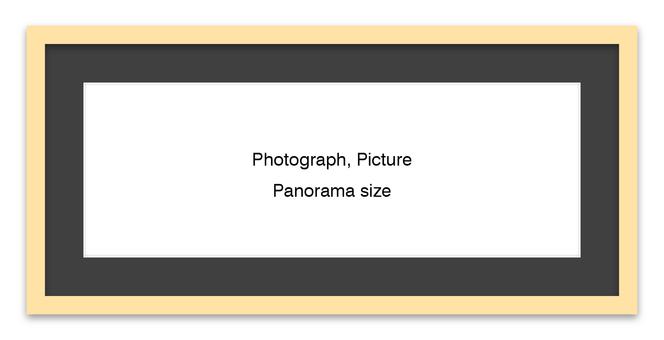 Panorama Frame Natural - Black Mat