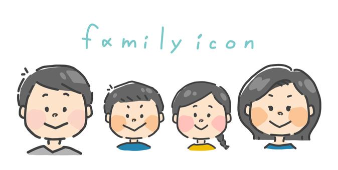 가족 일러스트 세트