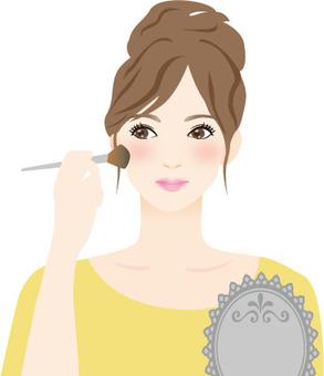 화장을하는 여성