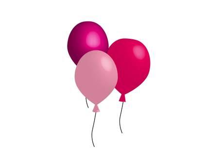 Pink balloons set