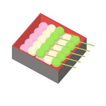 Three color dumplings · Hood box