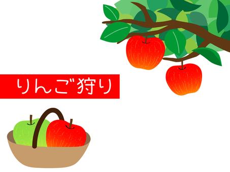 사과 따기 일러스트 소재 A