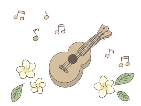 Cute Hawaiian ukulele