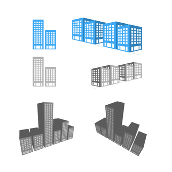 Illustration of a flat building