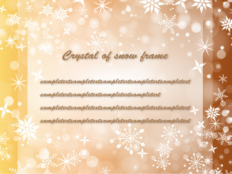 Snow crystal frame ver 04