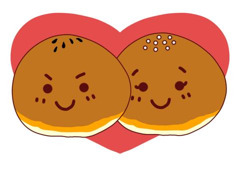 Tsuzumi-kun and Koshianan chan (Love Love)